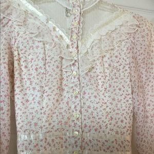 VTG Gunne Sax floral lace dress